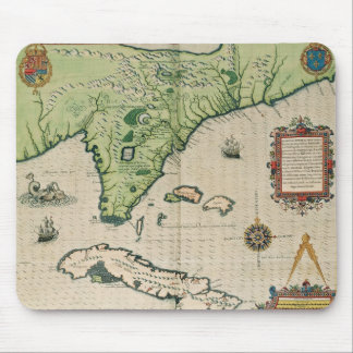 Map of Florida, from 'Brevis Narratio' Mouse Pad