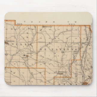 Map of Floyd County Mouse Pad