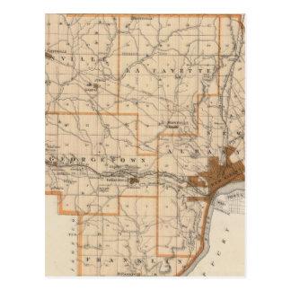 Map of Floyd County Postcard