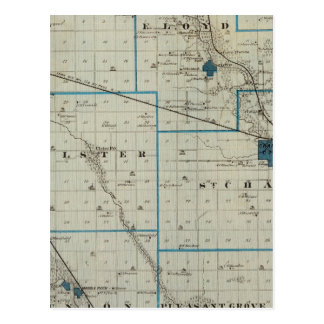 Map of Floyd County, State of Iowa Postcard