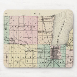 Map of Fond du Lac County, State of Wisconsin Mouse Pad