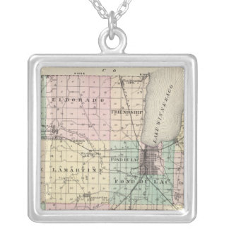 Map of Fond du Lac County, State of Wisconsin Necklace