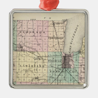 Map of Fond du Lac County, State of Wisconsin Ornament