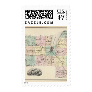 Map of Fond du Lac County, State of Wisconsin Postage
