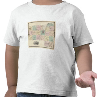 Map of Fond du Lac County, State of Wisconsin Tee Shirts