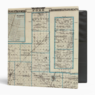 Map of Ford County and Paxton Vinyl Binder