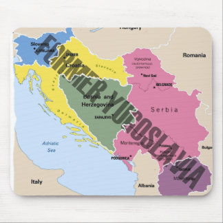 MAP OF FORMER YUGOSLAVIA MOUSE PAD