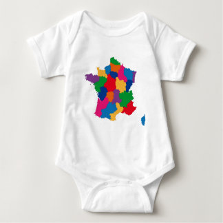 Map of France Baby Bodysuit