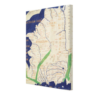 Map of France, from 'Geographia' Canvas Print