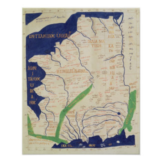 Map of France, from 'Geographia' Posters