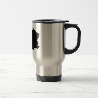 map of france stainless steel travel mug