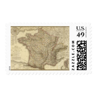 Map of France Stamp