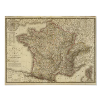 Map of France Poster