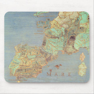 Map of France, Spain and North-West Africa Mouse Pad