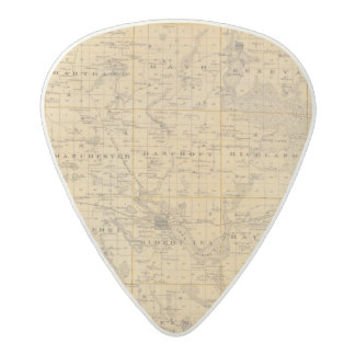 Map of Freeborn County, Minnesota Acetal Guitar Pick