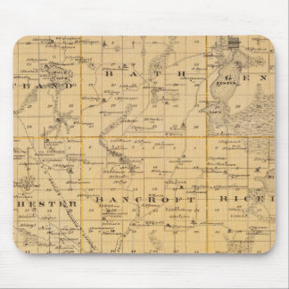 Map of Freeborn County, Minnesota Mouse Pad