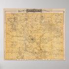 Map of Freeborn County, Minnesota Poster
