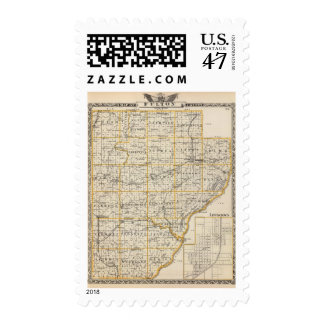 Map of Fulton County and Lewistown Postage Stamp