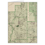 Map of Fulton County with Rochester, Fulton Co Greeting Card