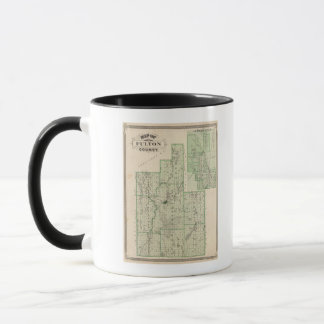 Map of Fulton County with Rochester, Fulton Co Mug