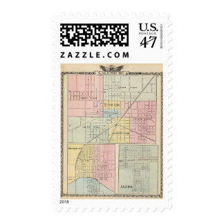 Map of Galesburg City, and Monmouth and Aledo Postage