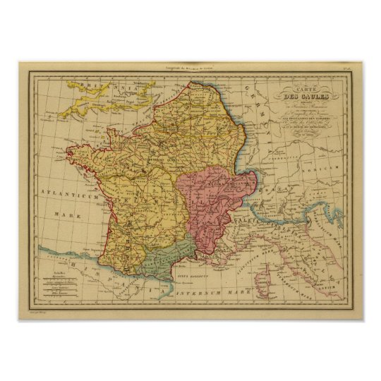 Gaul World Map.Map Of Gaul Poster Zazzle Com