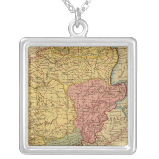 Map of Gaul Square Pendant Necklace
