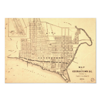 Map of Georgetown D.C. (District of Columbia) 1874 Card