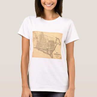 Map of Georgetown D.C. (District of Columbia) 1874 T-Shirt