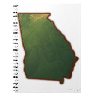 Map of Georgia 2 Notebook