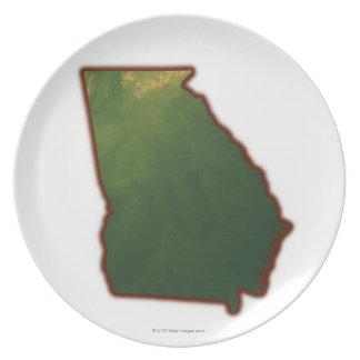 Map of Georgia 2 Plates