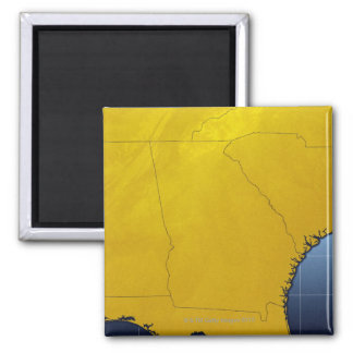 Map of Georgia 3 2 Inch Square Magnet