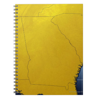 Map of Georgia 3 Notebook