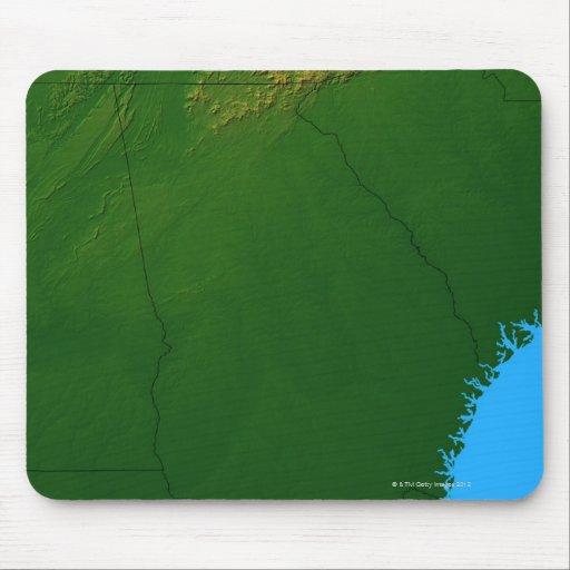 Map of Georgia 4 Mouse Pad