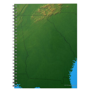Map of Georgia 4 Notebook