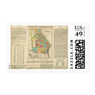 Map Of Georgia Postage