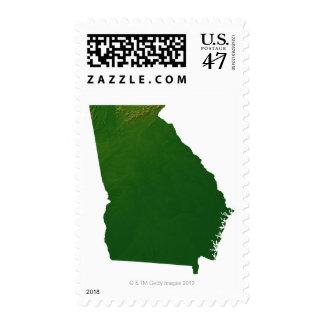 Map of Georgia Postage Stamp