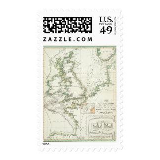 Map of German Seas Stamp