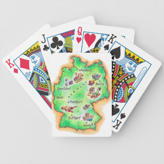 Map of Germany Card Deck