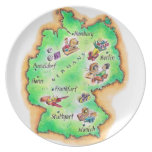 Map of Germany Dinner Plate