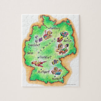Map of Germany Jigsaw Puzzle