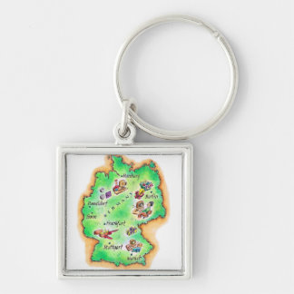 Map of Germany Keychain