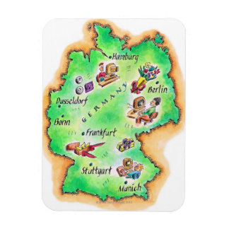 Map of Germany Magnet
