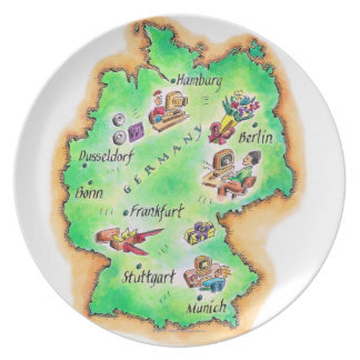 Map of Germany Melamine Plate