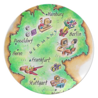 Map of Germany Party Plate
