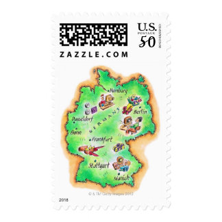 Map of Germany Postage
