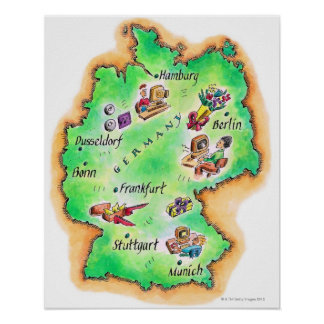 Map of Germany Poster