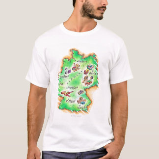 Map of Germany T-Shirt