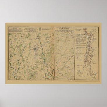 Map of Gettysburg Battlefield (1863) Poster