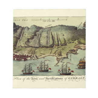 Map Of Gibraltar 1765 Notepad